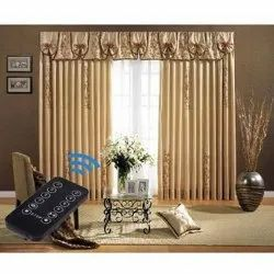 PVC Remote Control Curtain Track, For Commercial, Size: 10x8 Feet