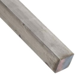 Polish Mild Steel Square Bar, For Construction, Single Piece Length: 3 meter