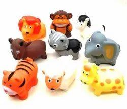 Bathing Equipment Plastic SC1020 Animal Squeeze Baby Bath Toys