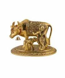 Kamdhenu Cow With Calf Statue