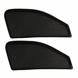 Infinity Fox Black Zipper Magnetic Car Sun Shade Curtain, Set of 2 Pcs