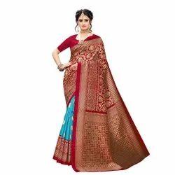 Ladies Printed Wedding Wear Saree