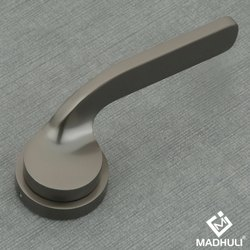 Matte Shiny Black Lever Door Handle-08