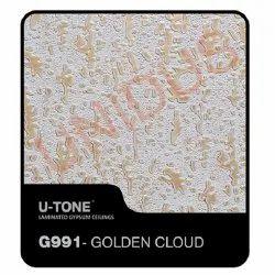 G991- Golden Cloud PVC Laminated Gypsum Ceiling Tile