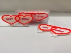 Joint Heart birthday candle