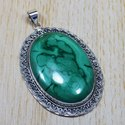 925 Sterling Silver Jewelry Malachite Gemstone Pendant SJWP-38