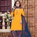 Printed Unstitched Patiala Suit At Low Range