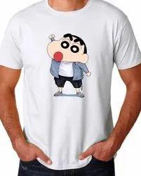 Lycra Cotton Round Cartoon T Shirts