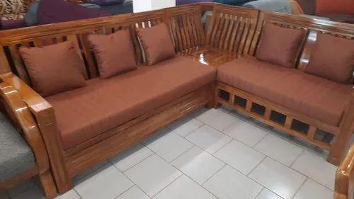 Wooden Modern Kerala Teak Wood Corner, Teak Wood Corner Sofa Set Designs Pictures