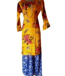 Rayon Party Wear Ladies Kurti Palazzo Set, Size: XL, XXL, Wash Care: Handwash