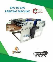Single Colour Bag To Bag Flexo Printing Machine
