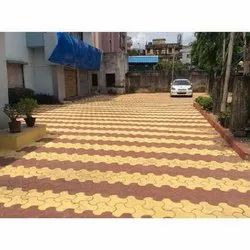 Commercial Building Paver Block Flooring Services, For Outdoor