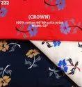 Crown Cotton Satin Print Shirting Fabric