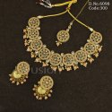 Reverse AD Mehendi Polish Necklace Set
