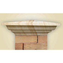 Teak Pyramid With Stone Pillar