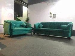 5 Seater Designer Green Sofa Set