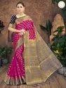 Present New Designer Banarasi Silk Saree With Blouse Piece