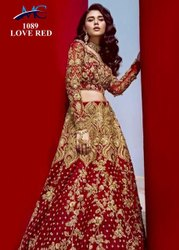 Red Pure 9000 Velvet Wedding Wear, Size: Free