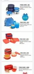 Red Stainless Steel Lunch Box, Packaging Type: Individual Packing, Capacity: Stanadard