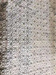Machine Cotton Ladies Kurti Embroidered Fabric