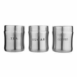 Stainless Steel Tea Coffee Sugar Canister Damroo Design