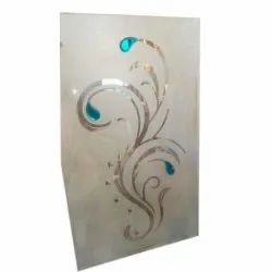 Floral Glossy Decorative Toughened Glass, For Decoration, Size: 6 * 4 Feet