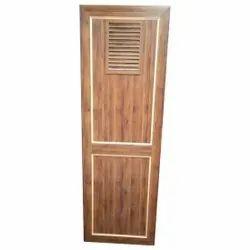 Brown Hinged PVC Panel Door, Rectangular, Size/Dimension: 7x3 Feet