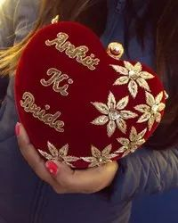 Red Bridal Fancy Wedding Personalized Clutch