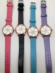 Udream Analog Girlsand Woman Lelies leather watches for chip prce, Model Name/Number: 00087