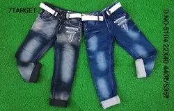 Blue boys jeans with belt