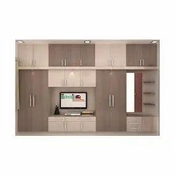 Brown,Cream Free Unit Wooden Designer Tv Cabinet, For Home