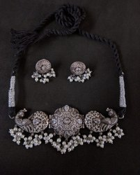 Peacock Designer Pearls Necklace Set