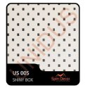 PVC Plastic Ceiling Tiles Shiny Box US005