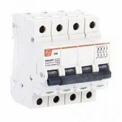 L&T Exora Miniature Circuit Breakers (MCBs) - 20A C-Curve 10 KA Four Pole (FP) ISI Marked