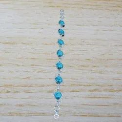 Turquoise Gemstone 925 Sterling Silver Jewelry Bracelet WB-4465