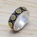 Silver And Brass Royal Jewelry Ring SJWR-603