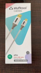 White 2.4 Amp Micro USB Cable, For Mobile Phone, Cable Size: 1.2 M