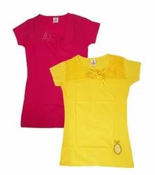Red,Yellow Ladies Cotton Top