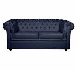 Ronak Sofaset Wooden Black Two Seater Modern Office Sofa, Living Room