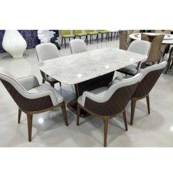 Marble Finish Dinning Table Chair Set