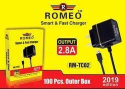 1.5m Black Romeo Smart & Fast Charger TC02