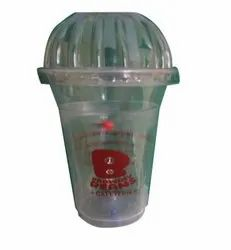 Printed Plastic Disposable Cup, Round, Capacity: 350 Ml