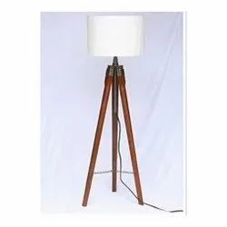 Plastic,Wood Brown and White Wooden Lamp, For Decoration
