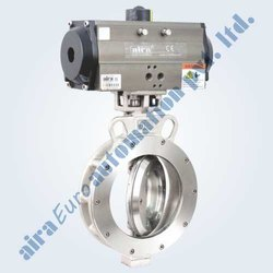Pneumatic Triple Eccentric Off Set Disc Wafer Type Butterfly Valve
