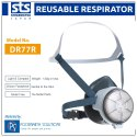 DR77R2N Half Face Reusable Respirator Dust Mask