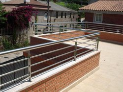 Silver 36 Inch Stainless Steel Balcony Railings, For Home, Material Grade: SS304