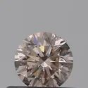 0.36ct Round Light Brown Pink I1 GIA Certified Natural Diamond