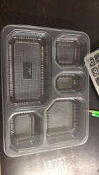 5 Compartment Mini Meal Tray With Lid