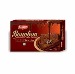 Funjoy Chocolate Bourbon Biscuits, Packaging Type: Packet