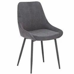 Luxurious Grey Velvet Dining Chair